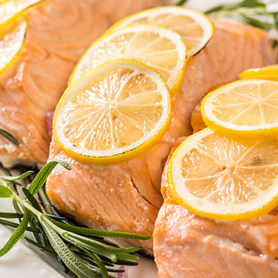Baked Salmon with Lemon and Rosemary