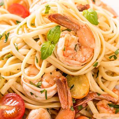 Linguini with Herb Grilled Shrimp